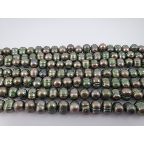 Natural Green Freshwater Pearls Round