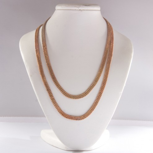 Brass and Copper Ball-and-Box Ribbon Chain
