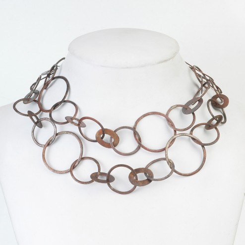 Copper Brushed Flat Oval and Round Chain Links