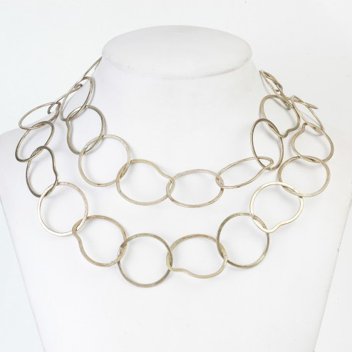 Copper Flaxen Gold Oval and Round Chain Links