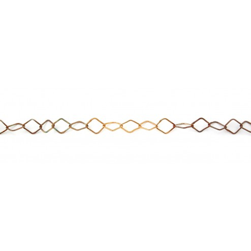 Antiqued Copper Diamond Chain Links