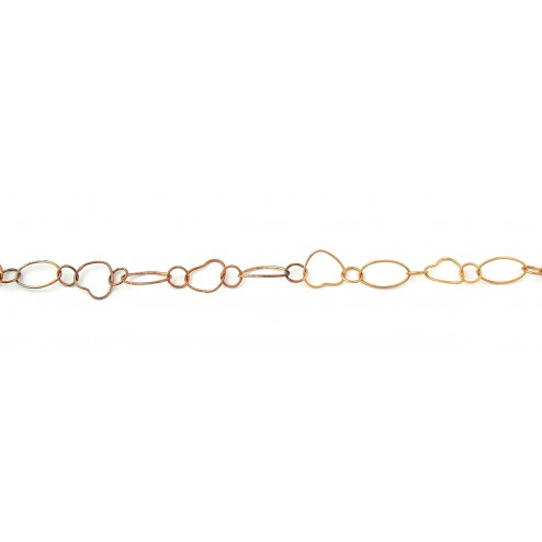 Heart and Oval Copper Chain Links