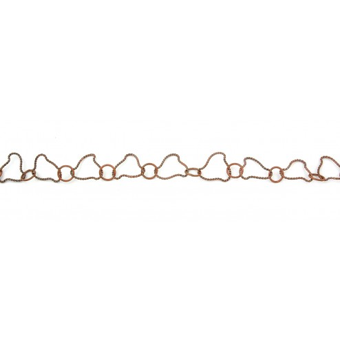 Oxidized Organic Twisted and Round Copper Chain Links
