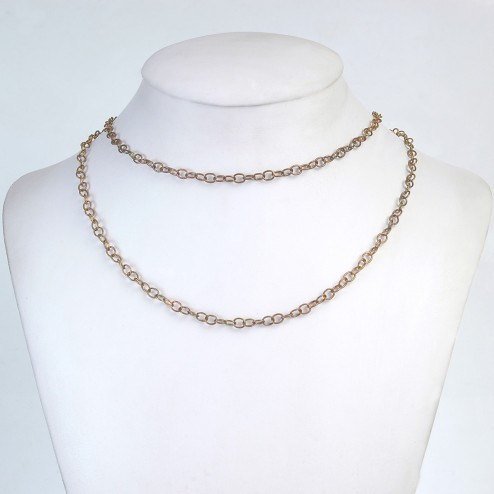 Antiqued Copper Curb Chain