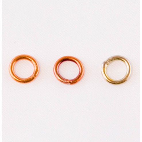Fire Torched Soldered 16 Gauge Copper Jump Rings