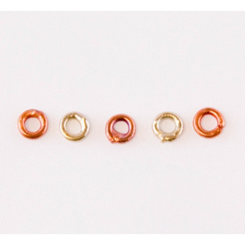 Fire Torched Soldered 14 Gauge Copper Jump Rings