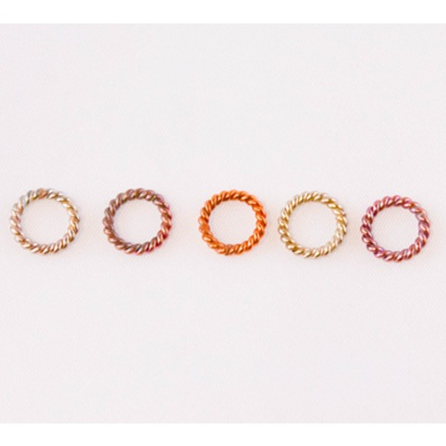 Fire Torched Twisted Soldered 16 Gauge Copper Jump Rings