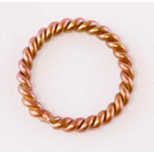 Oxidized Soldered 10 Gauge Twisted Copper Jump Ring