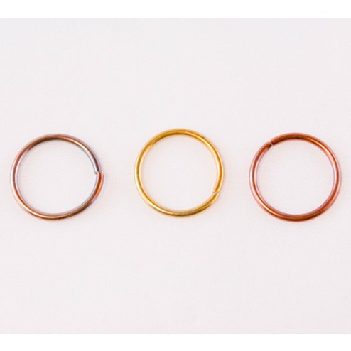 Fire Torched Open 16 Gauge Copper Jump Rings