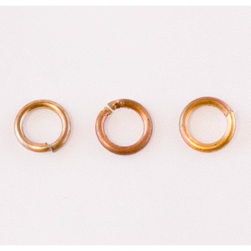 Fire Torched Open 14 Gauge Copper Jump Rings