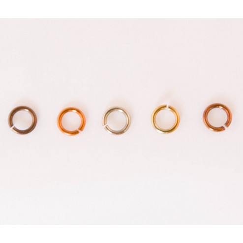 Fire Torched Open 48 Gauge Copper Jump Rings