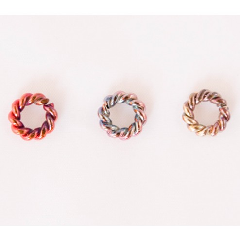 Fire Torched Twisted Open 12 Gauge Copper Jump Rings