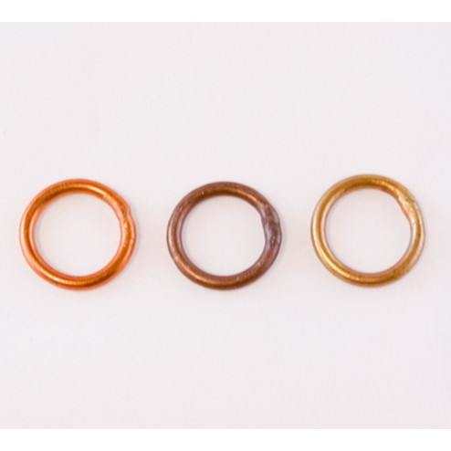Fire Torched Soldered 10 Gauge Copper Jump Rings