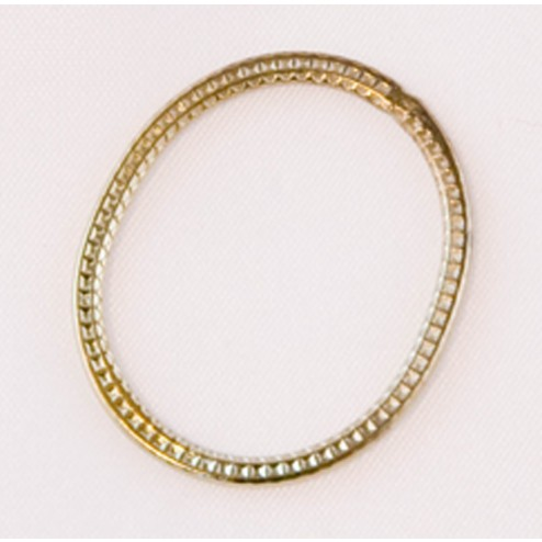 28mm Green Gold Plated Oval Link