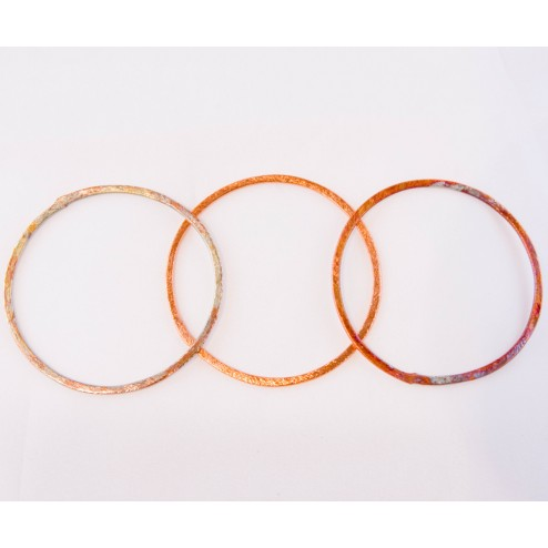50mm rainbow copper brushed round link