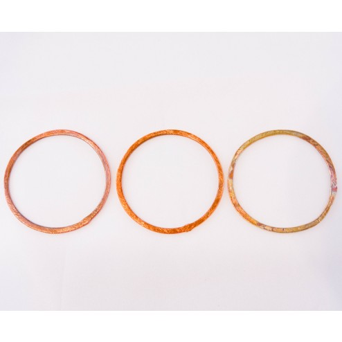 40mm Rainbow Copper Brushed Link