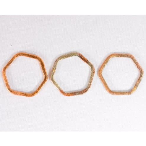 20mm Rainbow Copper Hexagon Link