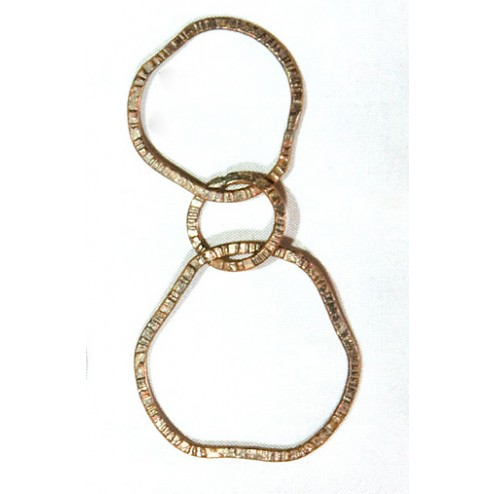 65mm Oxidized Copper Chain Links