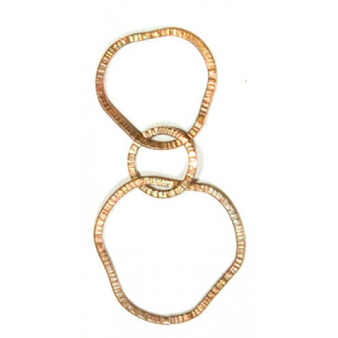 65mm Antiqued Copper Chain Links