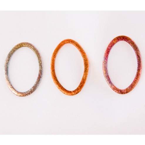 24mm Rainbow Copper Oval Link