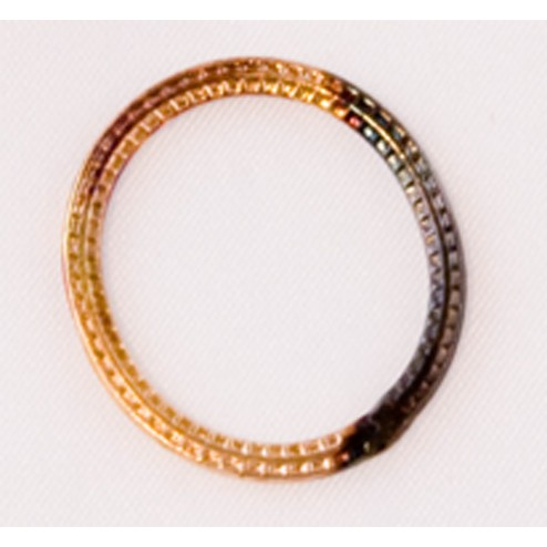 21mm Antiqued 24k Gold Plated Copper Oval Connector Finding