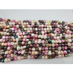 Natural Pink, Peach, Purple, Brown, Gold, Black Freshwater Pearls Round /Nugget Organic