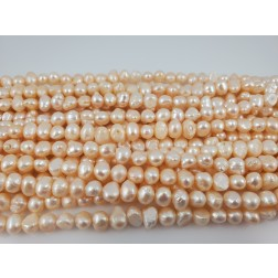 Natural White Freshwater Pearls Organic Flat Round and Oval