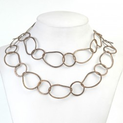 Oxidized Brushed Organic Copper Chain Links