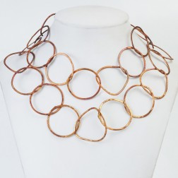 Antique Brushed Organic Shape Chain Links