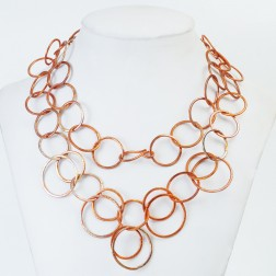 Copper Brushed Round Chain Link