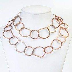 Rainbow Copper Brushed Organic Chain Links