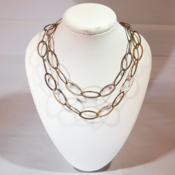 Oxidized Copper Oval Link Chain