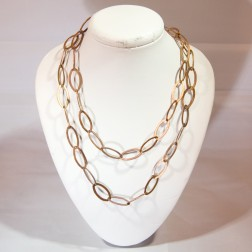 Rainbow Copper Chain Oval Links