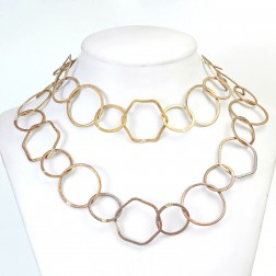 Antique 24K Gold Brushed Organic Copper Chain Links