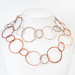 Rainbow Copper Brushed Round Chain Links