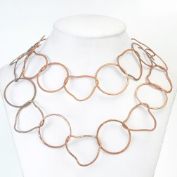 Antique Brushed Organic Copper Chain Links