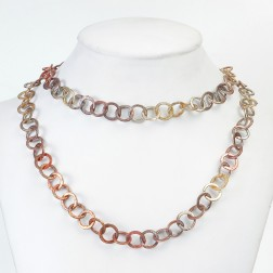 Antique and Rainbow Copper Brushed Round Chain Links
