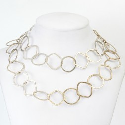 Antique 24K Gold Square and Round Copper Chain Link