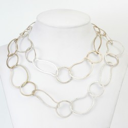 Antique 24K Gold Organic and Round Copper Chain Link