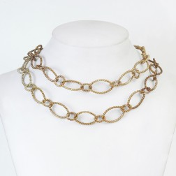 Copper Flaxen Gold Twisted Oval and Round Chain Links