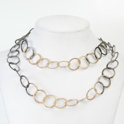 24k Gold and Black Rhodium plated Copper Chain Links