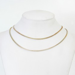 Copper Flaxen Gold Curb Chain