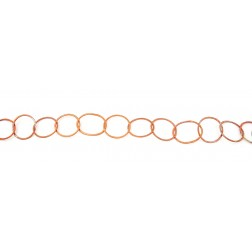 Rainbow Copper Brushed Oval Chain Links