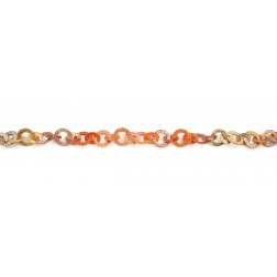 Rainbow Copper Textured Flat Round and Oval Chain Links