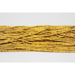 Yellow Faience Heishi Seed Beads