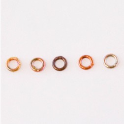 Fire Torched Soldered 18 Gauge Copper Jump Rings
