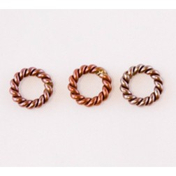 Fire Torched Twisted Soldered 12 Gauge Copper Jump Rings
