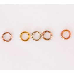 Fire Torched Open 18 Gauge Copper Jump Rings