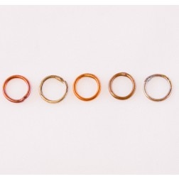 Fire Torched Soldered Copper Jump Rings