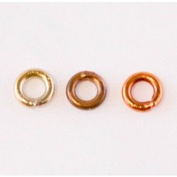 Fire Torched Soldered 12 Gauge Copper Jump Rings